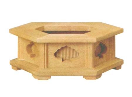 仏像台 楠 六角仏像台(サイズ3種類)の写真