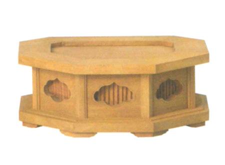 仏像台 檀木 八角仏像台(サイズ3種類)の写真