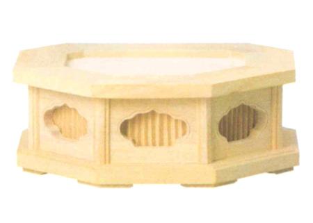 仏像台 八角仏像台 本柘植または桧木 (サイズ3種類)の写真
