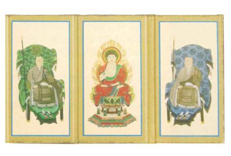 掛軸・仏像台 三つ折本尊【各宗派ございます】の写真