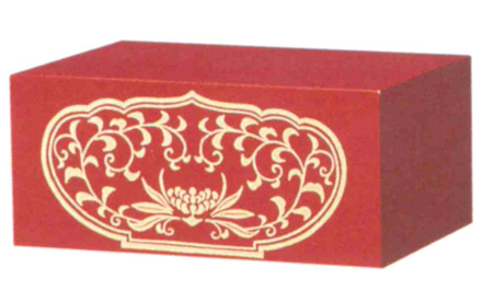 仏像台 木製 四角箱台 朱または黒 (サイズ3種類)の写真