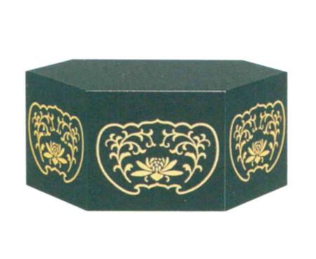 仏像台 PC 六角箱台 黒または朱 (サイズ4種類)の写真