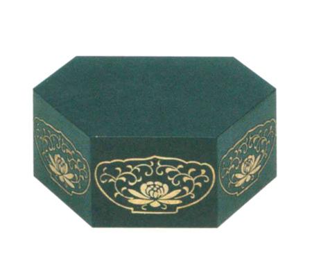 仏像台 木製 六角箱台 黒または朱 (サイズ4種類)の写真