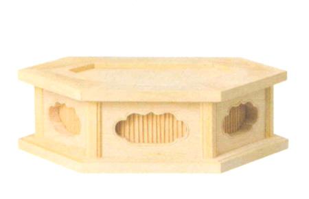 仏像台 六角仏像台 桧木または本柘植 (サイズ3種類) の写真