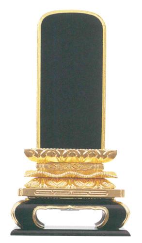 位牌 純三方金 猫丸位牌 〈国産〉(サイズ8種類)の写真