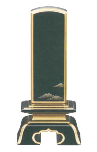 位牌 純面粉 上塗り位牌 彩 蒔絵入り 富士(サイズ6種類)の写真