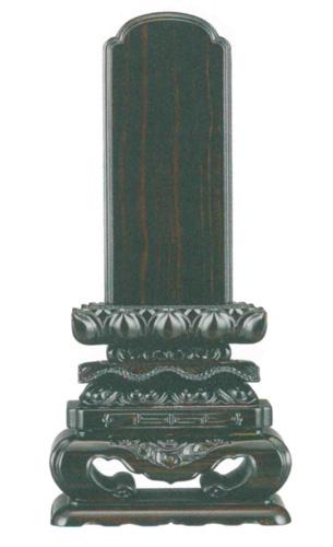 位牌 黒壇 上等猫丸(サイズ5種類)の写真