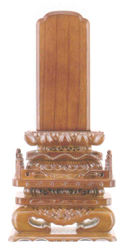 位牌 本ケヤキ 切高欄(サイズ3種類)の写真