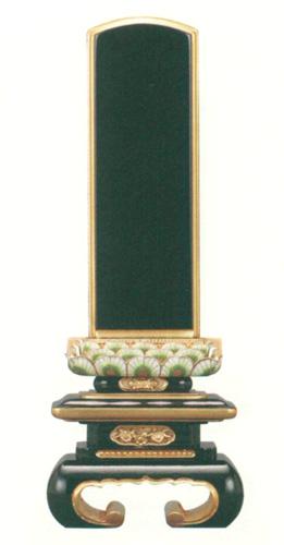 位牌 純面粉 孔雀吹蓮華 上京中台 巻足(サイズ6種類)の写真