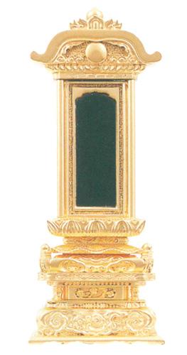 位牌 純三方金 京型柱付出高欄座 純三方金(サイズ5種類)の写真