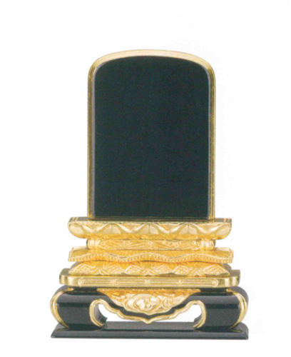 位牌 純三方金 猫丸位牌 巾広〈国産〉(サイズ8種類)の写真