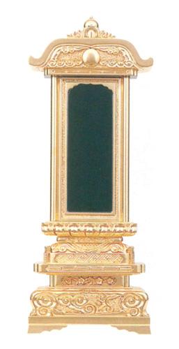 位牌  純三方金 柱付五重座 純三方金(サイズ5種類)の写真