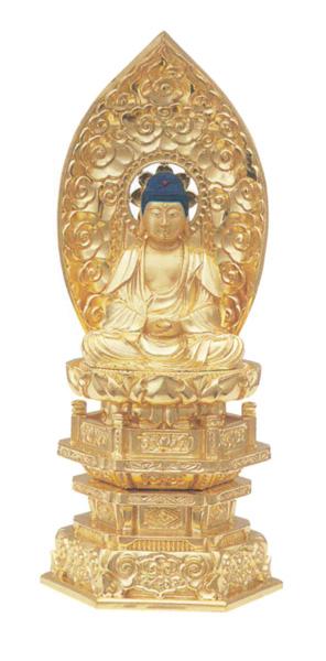 純金中七 【座釈迦】 肌粉(サイズ5種類)の写真